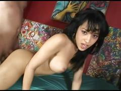 Hot brunette fucked and facialized