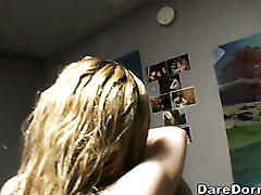 College amateur made dorm room sextape!