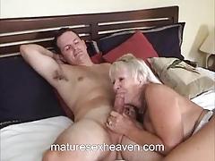 Mature amateur loves cock
