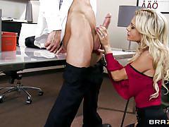 Blonde wife sucking a big dick
