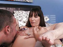 small tits, wife, pussy licking, fingering, brunette, long legs, pretty, spread legs, shaved pussy, dana dearmond, keiran lee, real wife stories, brazzers, jugg cash