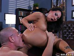 Brunette slut takes it anal from the teacher