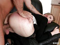 Blonde slut getting fucked and fingered