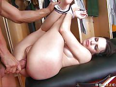 blowjob, hardcore, brunette, tied up, gorgeous, shaved pussy, sideways, dana dearmond, nacho vidal, pornstars punishment, brazzers, jugg cash