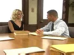 Gorgeous brunette lawyer fucked hard