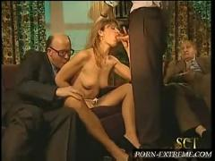 grandpa, group, striptease, blowjob
