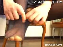 aizawa, footjob, japanese, tramp, knows, how, party
