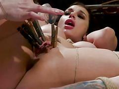 Horny lesbians in hardcore bdsm session