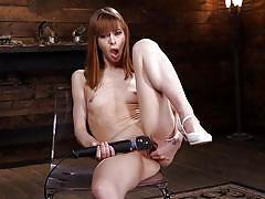 Naughty redhead alexa pleasing herself