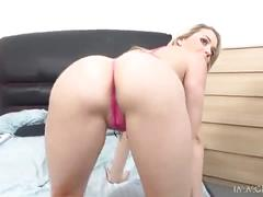 blonde, blowjob, doggystyle, gonzo, pussy-licking, oral, big-ass, cum-in-mouth, bald-pussy