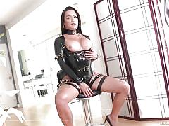 tranny, domination, big cock, big tits, handjob, deepthroat, latex, tits sucking, shemale idol, evil angel, bianka nascimento, gabriel d'alessandro