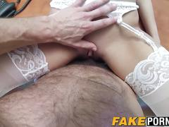 Hot brunette chick nailed by doctor