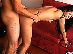 Horny latina gets her pussy fingered and fucked