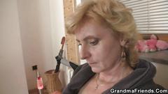 granny, mature, threesome, amateur, blonde, old, close up, grandma, dudes