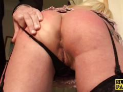 Busty bdsm brit dominated with roughsex