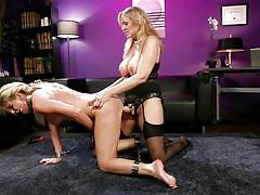 milf, blonde, anal, bdsm, strapon, lesbians, big tits, domination, vibrator, lezdom, from behind, shackles, whipped ass, kink, india summer, julia ann
