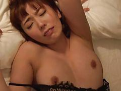 Sensual japanese babe moaning with great pleasure