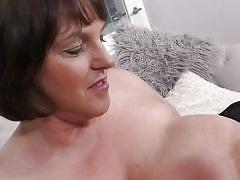 mature, solo, licking, dildo, short hair, huge tits, brunette, corset, tit fucking, mature nl, carol brown