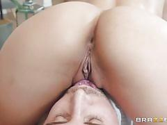 milf, handjob, massage, deepthroat, latina, brunette, rubbing, masseur, ball sucking, pussy eating, 69 position, dirty masseur, brazzers network, vicki chase, keiran lee