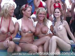 Incredible real home video of wet tshirt contest during