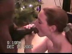 Interracial christmas dickdown 2