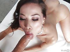 Watch my sticky cum flow out of kalina's mouth