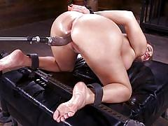 milf, blonde, bdsm, big ass, big tits, fucking machines, masturbating, from behind, tied hands, bondage device, symbian, fucking machines, kink, richelle ryan