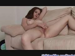 Gf rubs pussy