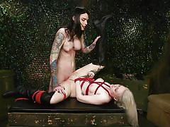 tranny, blonde, tattooed, milf, bdsm, rope bondage, domination, military, army, transexual, face fuck, ts pussy hunters, kink, chelsea marie, arielle aquinas