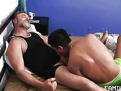 twink, handjob, blowjob, kissing, stepdad, bearded, family dick
