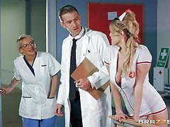 blonde, handjob, babe, hospital, nurse, blowjob, huge cock, titjob, ball sucking, doctor adventures, brazzers, danny d, marica chanelle
