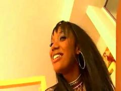 Curvaceous big booty ebony chick gets a good dicking