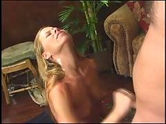 Tabitha stern gives a good hand job, talks dirty and takes lots of cum
