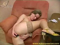 Sonya plays anal dildo