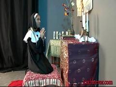 Aubrey addams in the nun's prayer