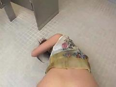 Anal sex on the bathroom floor