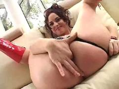 Elizabeth lawrence dp with double creampie.