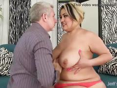 Sexy fat milf sinful celeste gets her pussy drilled hard