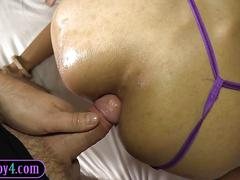 Sexy ladyboy enjoys a good fuck in that tight ass of hers