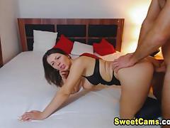 Mature amateur fucked on cam