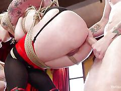 Naughty sex slaves get anal punishment from axel