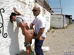 milf, big ass, outdoor, deepthroat, latina, brunette, big dick, from behind, in public, public bang, bangbros network, franceska jaimes