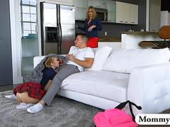 Cory chase and bailey brooke hot threesome on the couch