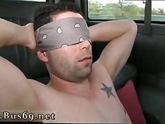 Gay dude sucks a cock in the back of the van