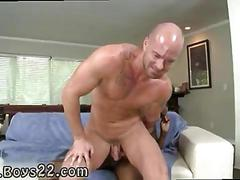 Black monster cock gets sucked by a bald gay stallion