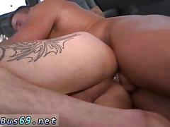 Tattooed dude gets his virgin ass fucked for the first time