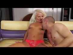 Granny anal creampie