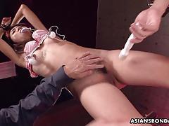 Kinky asian enjoys bdsm
