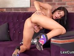 Perfect czech stunner lexi dona fingers and orgasms