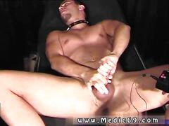 Freaky gay hunk jerks a dick and gets his ass toyed